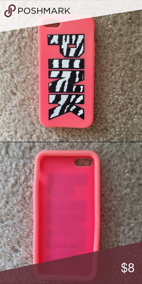 Pink VS IPhone 5 Case Pink with zebra design iPhone 5 case. Could be used for iPhone 5/ iPhone 5 S/ IPhone C. Used once. PINK Victoria's Secret Accessories Phone Cases