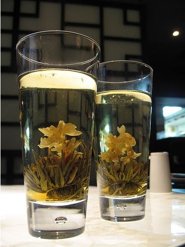 I could live off the flowering teas at Ping Pong! [Jasmine tea at London's P