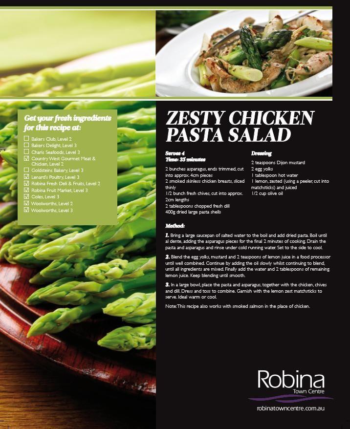 Zesty chicken pasta salad