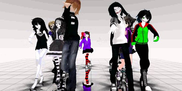 MMD Creepypasta  dance omg jeff and jack is sooo funny in this video