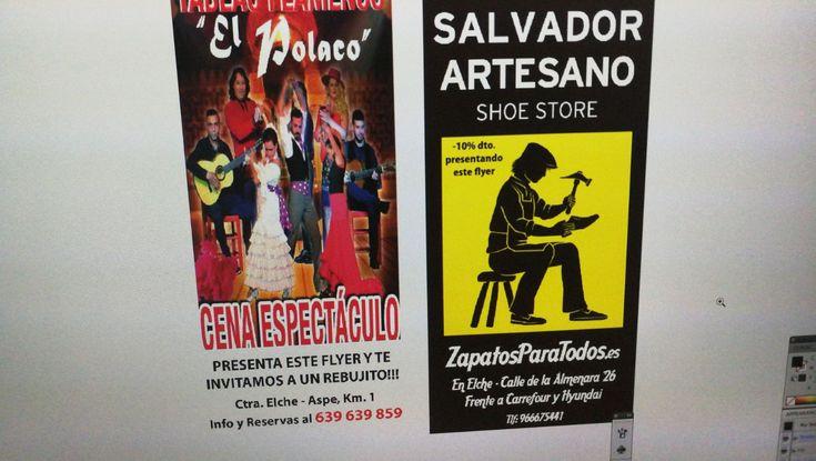 Salvador artesano zapaterías colaborador del tablao flamenco El Polaco