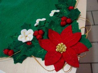 Camino de Mesa nochebuenas para Navidad - Manualidades y Labores