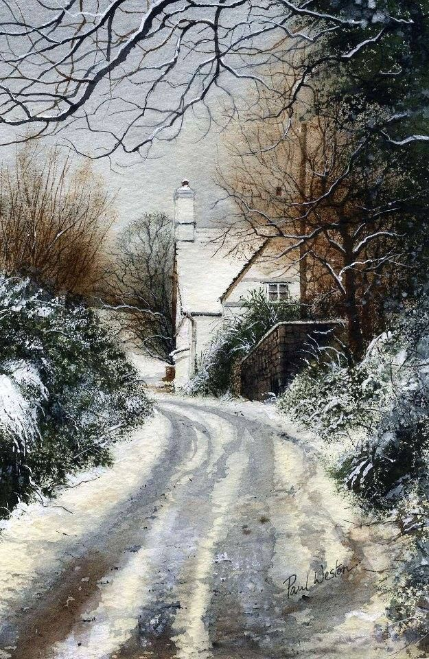 """Winster scene"" By Paul Weston, from Cwmbran, Wales, UK - watercolor -"