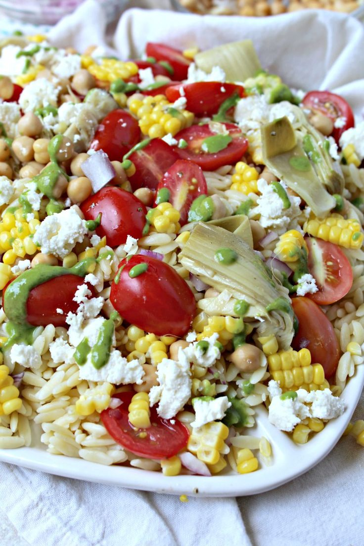 Orzo Salad with Lemon Basil Vinaigrette
