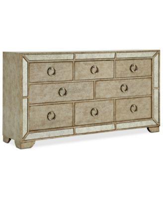 Pulaski Furniture   Farrah Dresser With Glamorous Mirrored Detail Around  Edge