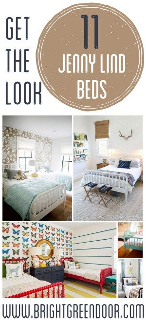 11 Painted Jenny Lind Beds in kids rooms