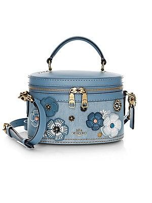 5557470411ba00 COACH Tea Rose Denim Trail Crossbody Bag   Handbags in 2019   Bags ...