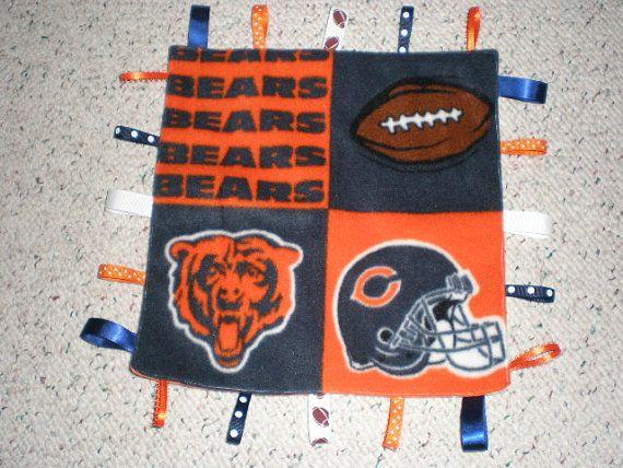 Chicago Bears Baby Blanket by GrandmaTsCrafts on Etsy, $10.00