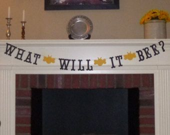 What Will It Bee Gender Reveal Banner Bumble Baby Shower