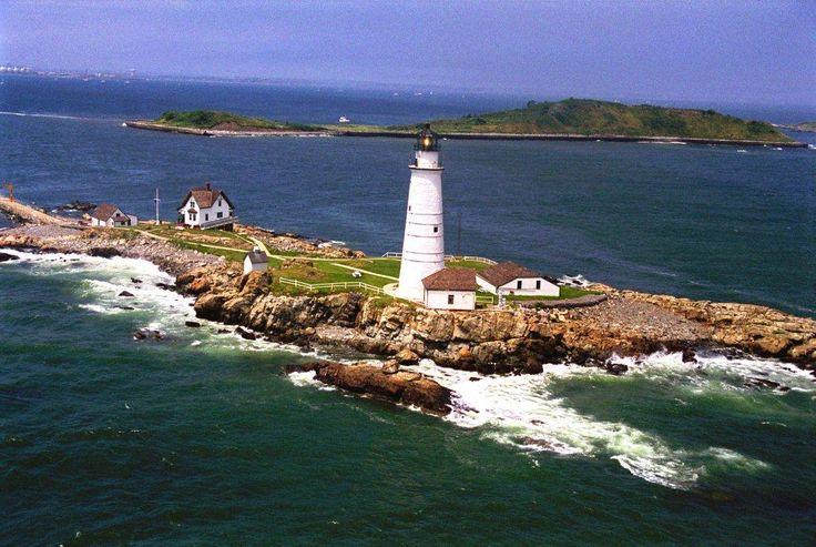 The Boston Light sits on a small island in the outer section of the famous Boston Harbour. It was first illuminated in 1716 and was the first operational lighthouse in America.