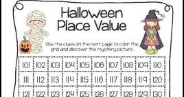 byMichelle Walker 2nd - 4th Grade Halloween Place Value FREEBIE Practice place value of numbers 100-200 with this cute worksheet th...