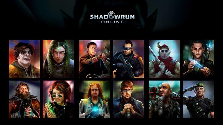 Shadowrun Online - Portraits by Mikeypetrov.deviantart.com on @DeviantArt