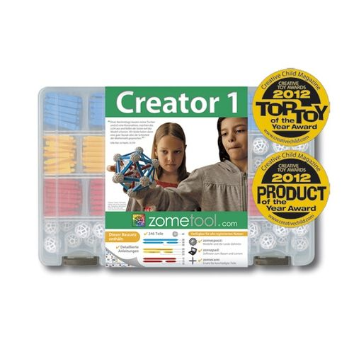 Alkotó 1. kezdőkészlet (Creator 1) tudományos építőjáték - Zometool