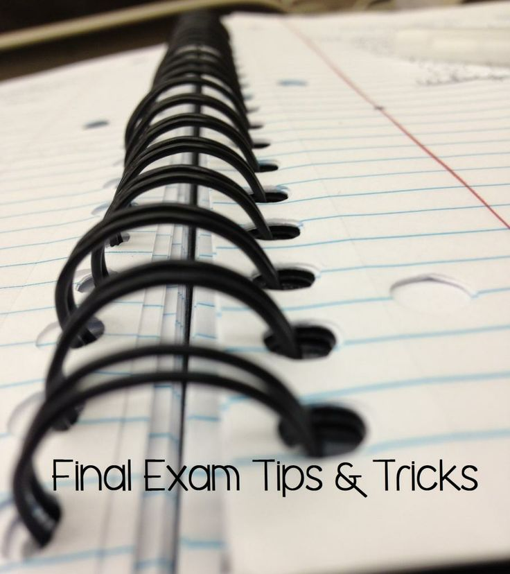 Final Exam Tips and Tricks