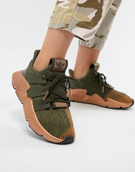 157b84a0a20 adidas Originals Prophere Sneakers In Khaki And Copper in 2019 ...