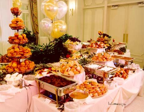Catering Buffet Table Setup | Managing the Kitchenu003du003dspread out foods between chafing dishes & 48 best catering setup images on Pinterest | Table decorations ...