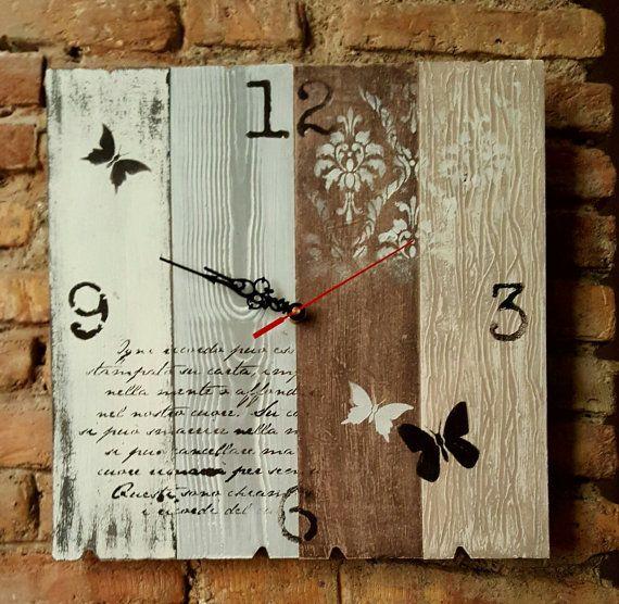 Orologio shabby chic / Che ora è / Orologio Home di RFAngoloSogni