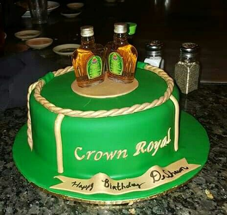 Apple crown royal cake