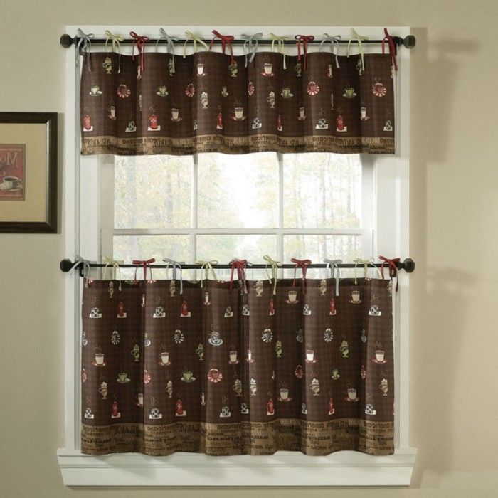1000 ideas about coffee themed kitchen on pinterest for Cafe curtains for kitchen ideas