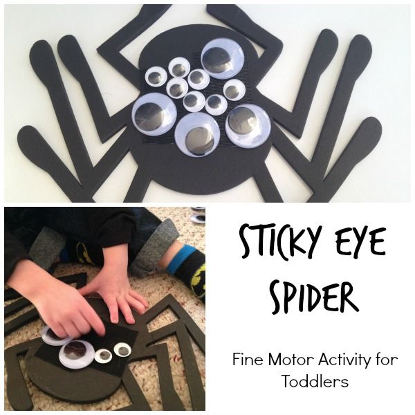 Sticky Eye Spider: A Halloween Fine Motor Skills Activity for Toddlers. Easy to put together and so much fun!
