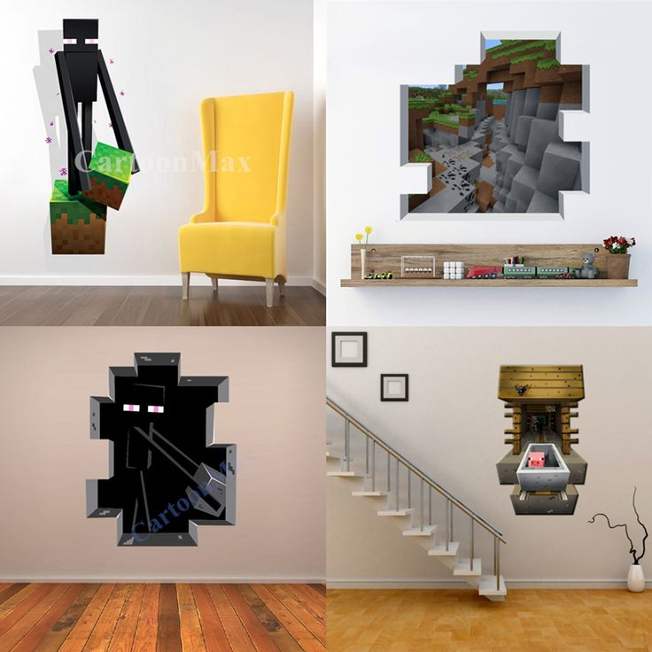 Newest Minecraft Wall Stickers Wallpaper Kids Room Decal Minecraft Home Decoration Free Shipping-in Wall Stickers from Home & Garden on Aliexpress.com | Alibaba Group