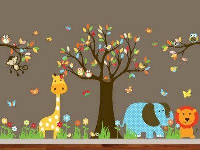 Animal Wall Mural for Nursery Room Decor