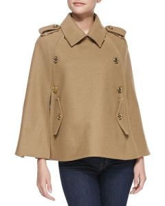Camel cape by Michael Kors with jeans. Learn what to wear this fall, 2015 >>> http://justbestylish.com/what-to-wear-this-fall/