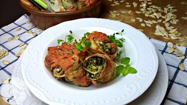Rotollo with pumpkin and spinach :)