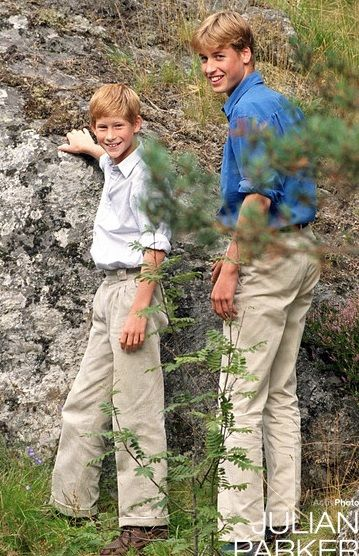 1997 William and Harry at Balmoral (days before Diana's death)..♔Brothers♔Prince Harry♔Prince William