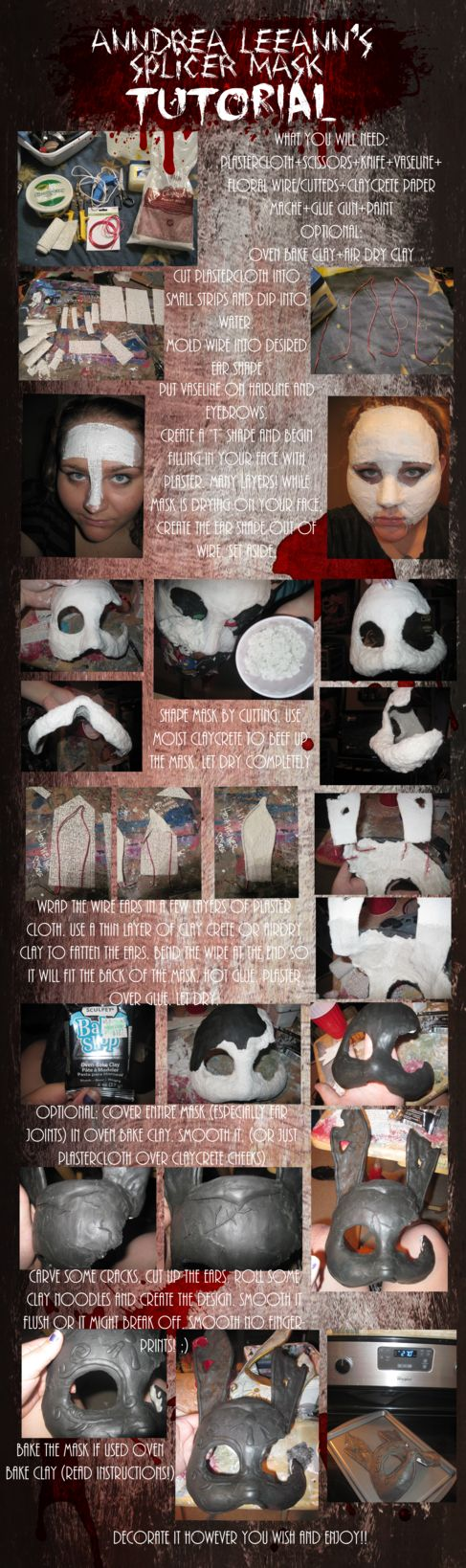 Splicer mask tutorial from Bioshock by AnndreaLeeann on deviantART