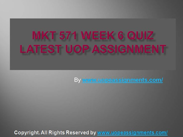 Get an A+ is quite difficult but knowing that the how to get it and still not doing so is foolish. Join http://www.UopeAssignments.com/ and we provide all the course including MKT 571 Week 6 Quiz Latest UOP Assignment that will lead you to success.