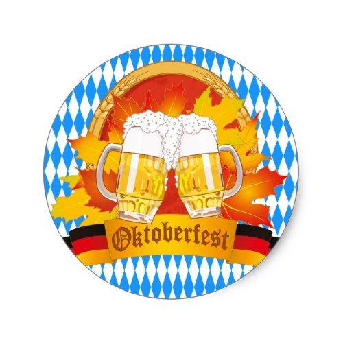 Oktoberfest Beer Label Sticker | Zazzle – OKTOBERFEST Personalized Gifts