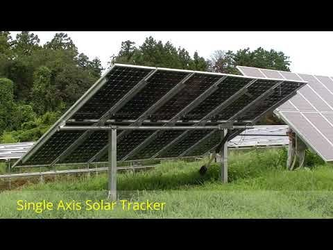 Single Axial Solar Tracker Youtube Solar Tracker Solar Panels Solar