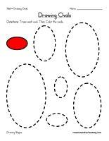 Drawing Ovals Worksheet - Have Fun Teaching