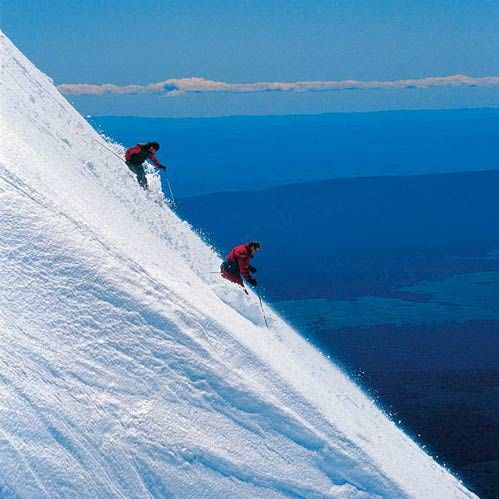 Vertical fun, Mount Ruapehu