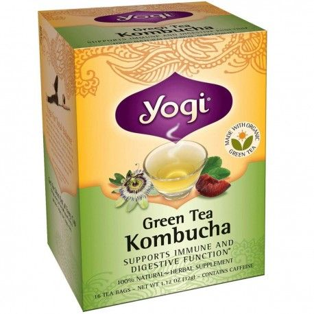 Kombucha is a #fermented tea full of life and energy. It was known in China, Japan, Europe and Russia hundreds of years ago and still popular nowadays. Based on Organic Green Tea, Yogi Kombucha helps your immune and digestive systems and provides antioxidants. #Kombucha