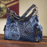Sparkling Denim Bag