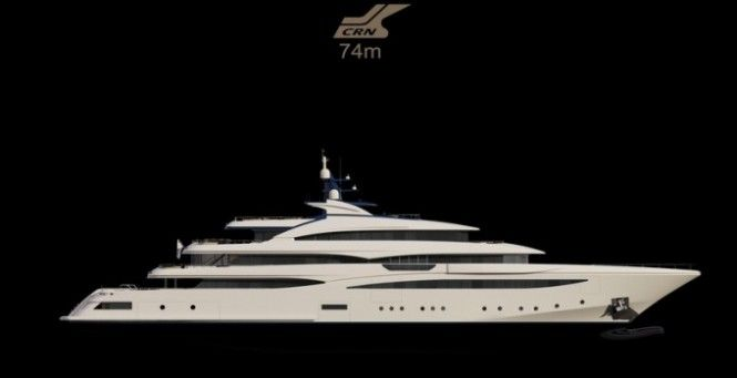 Highly Anticipated Superyacht: CRM's 74 m Yacht CLOUD 9