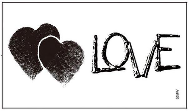 (Минимальный заказ $0.5) временные Татуировки Для Мужчина Женщина Водонепроницаемый Наклейки макияж maquiagem Сердце связан с сердца любовник любовь WM055B