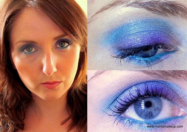 Trucco viola - verde acqua - blue by Mary_Merilamakeup