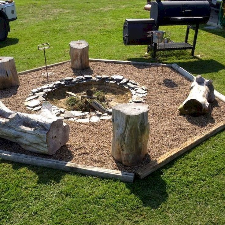how to make an outdoor fire pit cheap