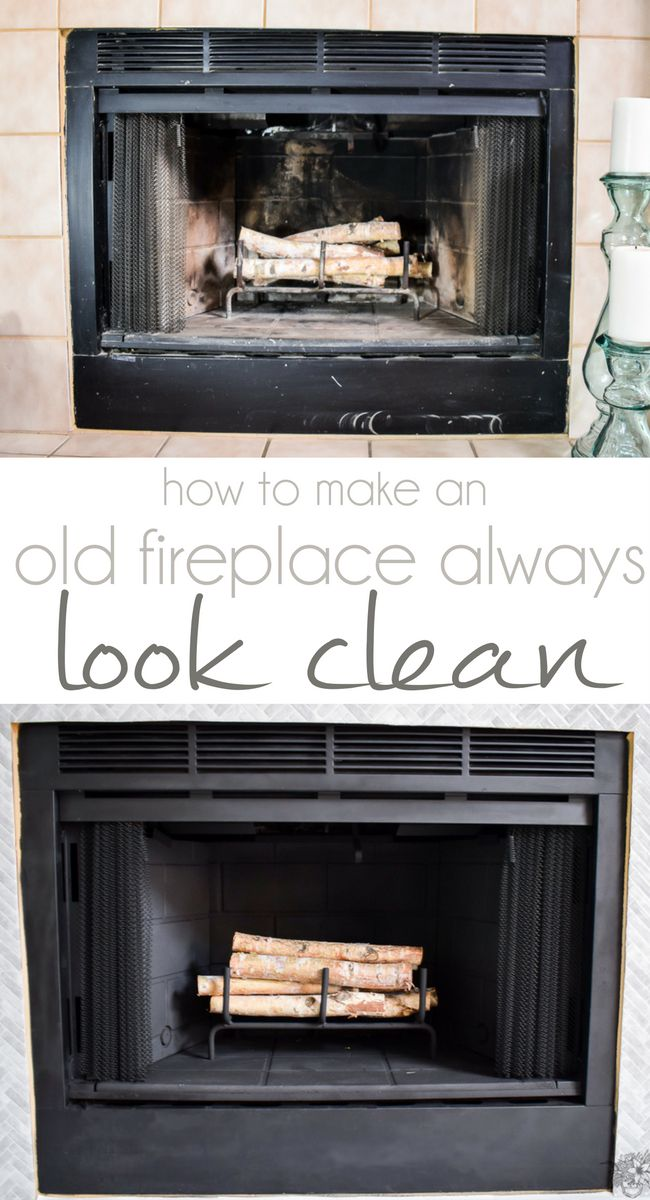 Hi Everyone! So you may have noticed in my New Year, New Room Challenge: Living Room Refresh Reveal our fireplace has taken on some pretty drastic changes over the last month.  And one of the biggest changes was just making it look clean again, a permanently clean fireplace that is!…