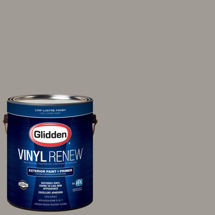 Glidden 1 gal. #HDGCN53 Old Monterey Grey Low-Lustre Exterior Paint with Primer