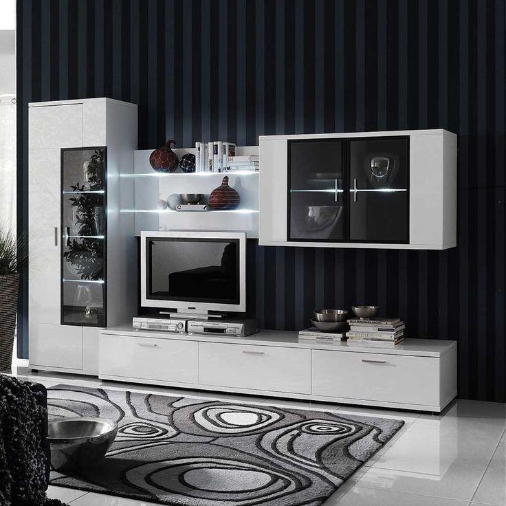 25+ best ideas about wohnwand schwarz hochglanz on pinterest ...