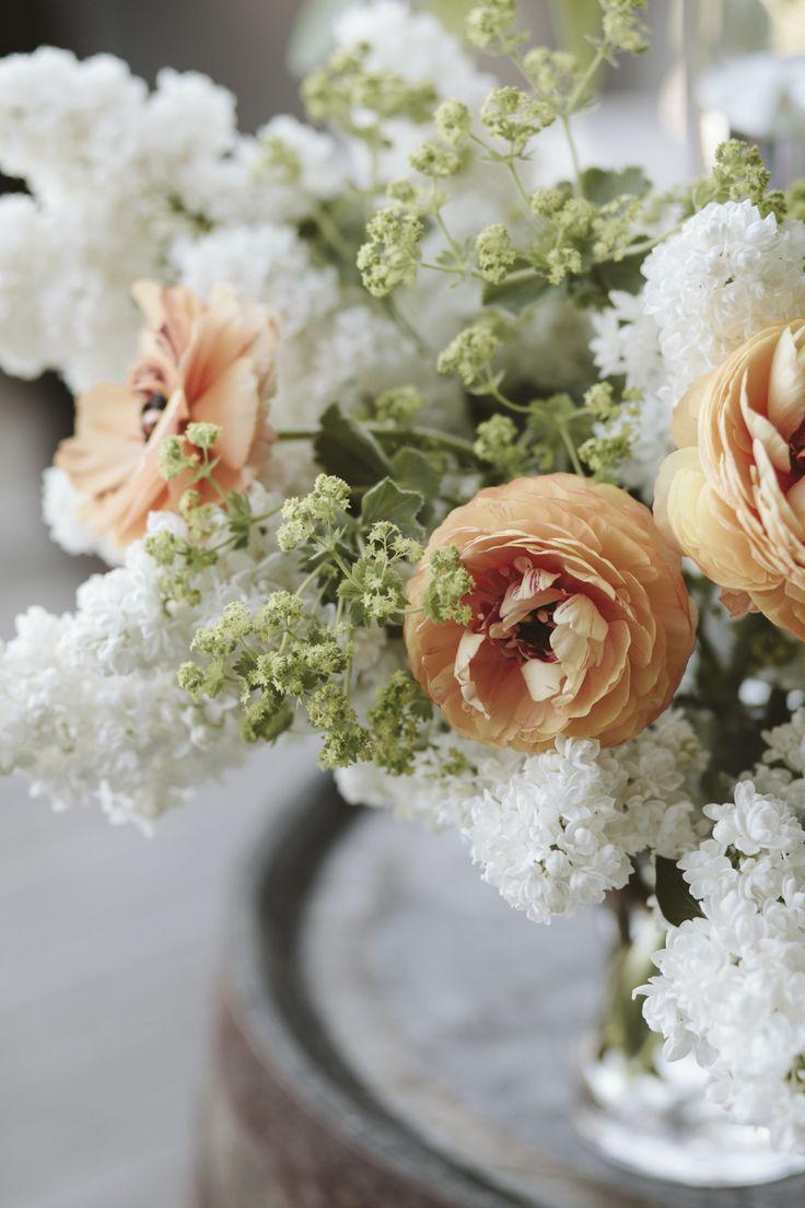 Spring wedding - ranunculus, lady's mantle and lilacs - Tara McHugh Flora (Photo: Kelly Brown)