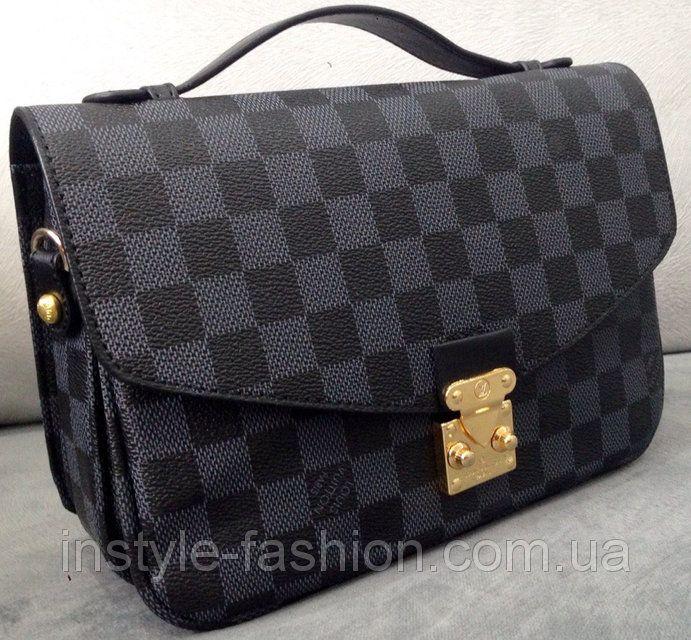 Сумка клатч Louis Vuitton черная через плечо, фото 1