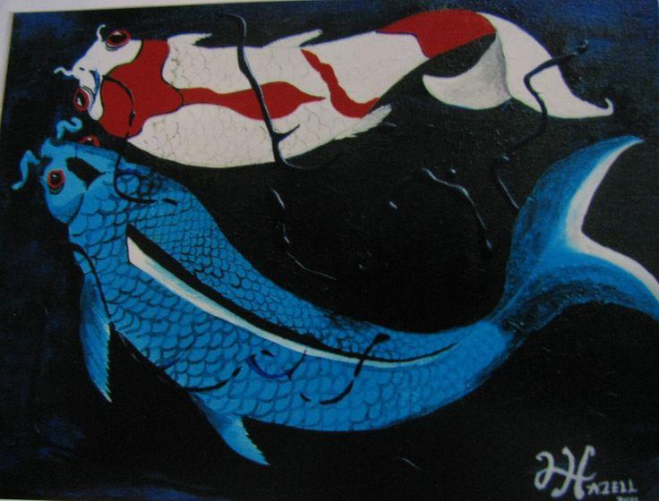 Two koi c256 lhazell art my ljh c for Koi fish for sale california