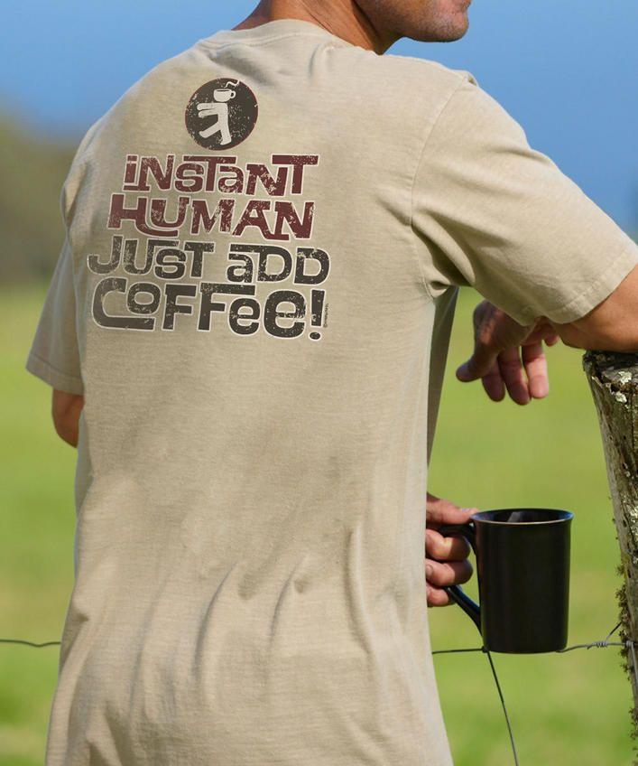 Instant Human - Kona Coffee-Dyed Crew Neck T-Shirt