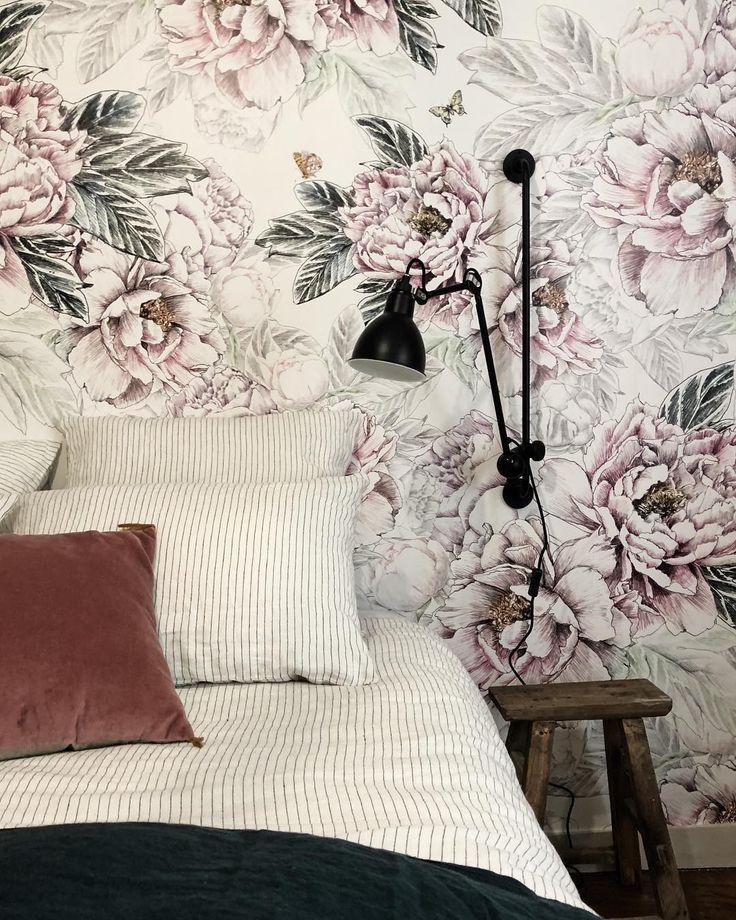 325 best papier peint fleurs images on pinterest. Black Bedroom Furniture Sets. Home Design Ideas