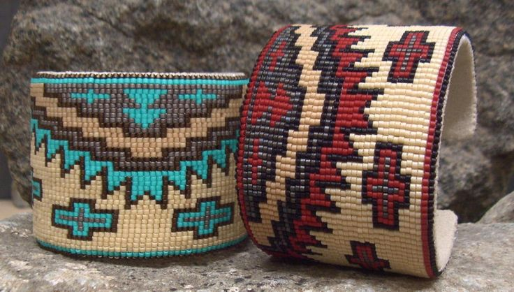 Souvenir for my sisters: Southwestern Beaded Cuff Bracelets